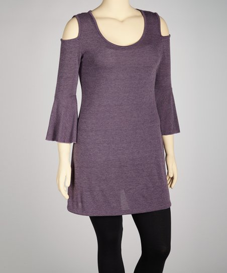 Purple Cutout Tunic - Plus