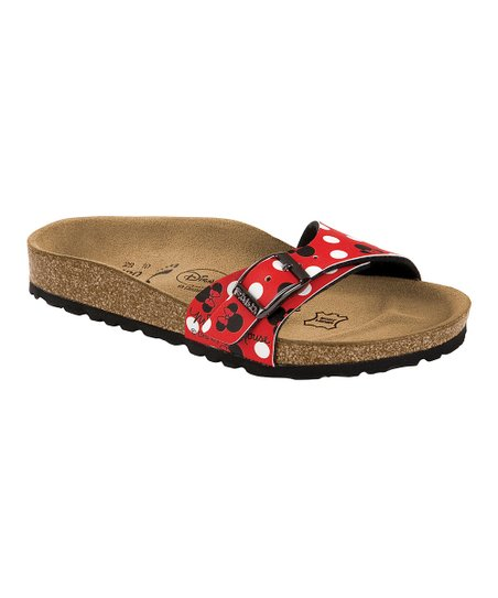 Minnie Red Birko-Flor Menorca Slide - Kids