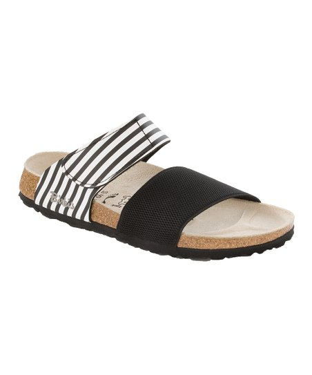 Black Stripe Bonaire Stretch Sandal - Women