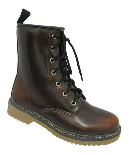 Brown Topic Combat Boot