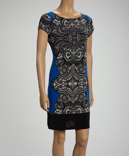 Royal & Black Arabesque Shift Dress