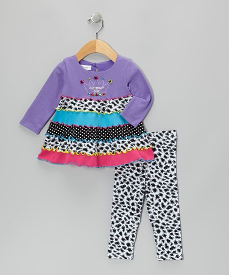Purple Crown Tunic & Leggings - Infant, Toddler & Girls