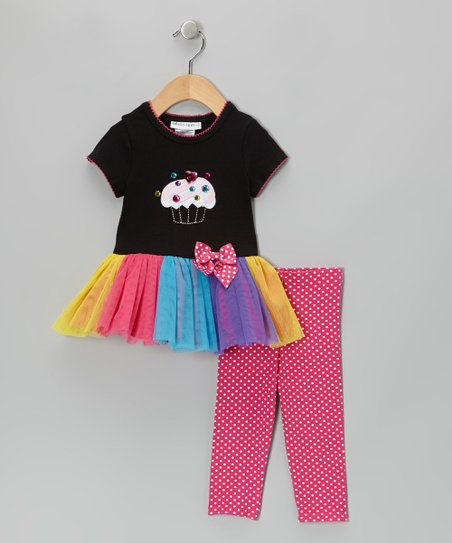 Black Cupcake Tutu Dress & Leggings - Infant, Toddler & Girls