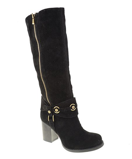 Black Ankle Buckle Boot
