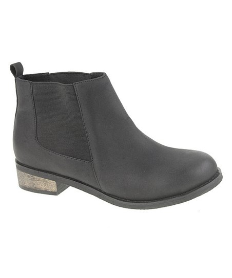 Brushed Black Sada Ankle Boot