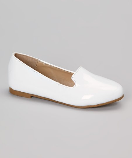 White Patent Kylie Loafer