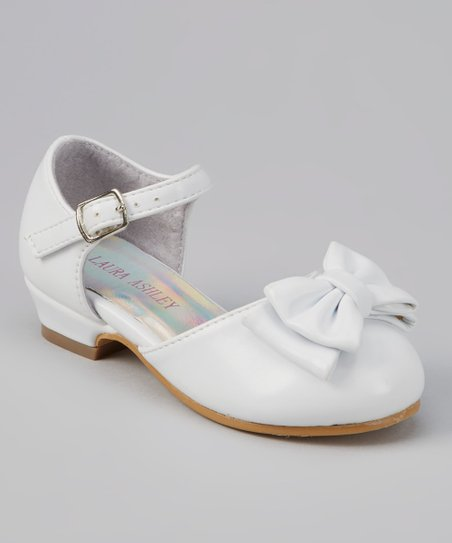 White Bow Ankle-Strap Shoe