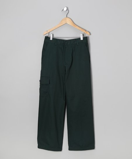 Green Uniform Cargo Pants - Boys