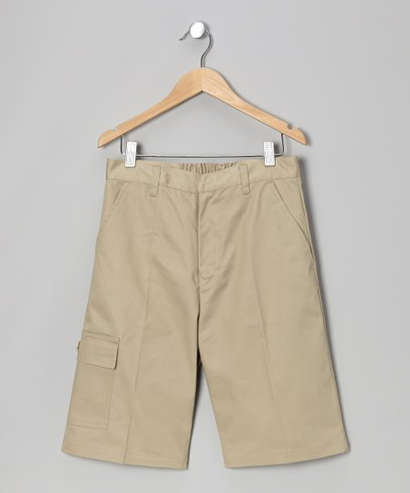 Khaki Uniform Cargo Shorts - Boys
