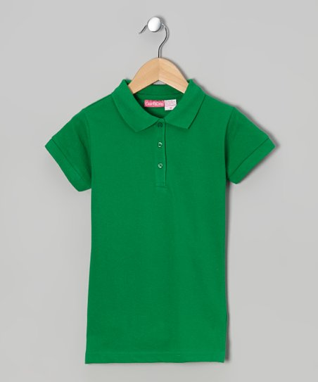 Green Johnny Pique Polo - Girls