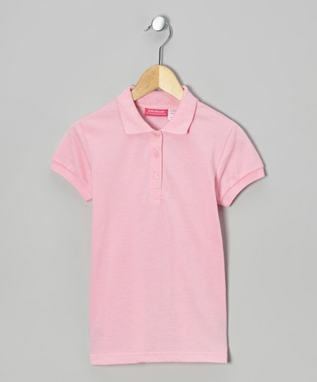 Light Pink Johnny Pique Polo - Girls