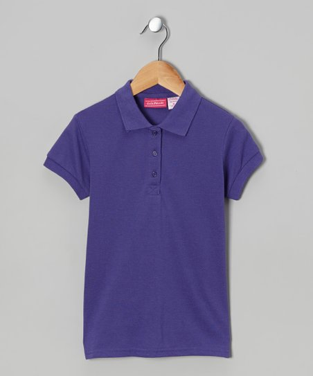 Purple Johnny Pique Polo - Girls