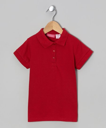 Red Johnny Pique Polo - Girls