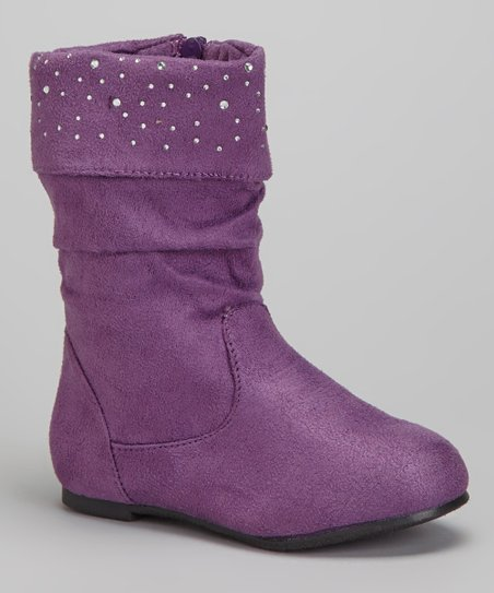 Purple Shimmer Slouch Boot