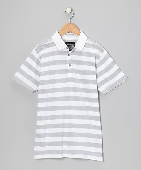 White Stripe Polo - Infant