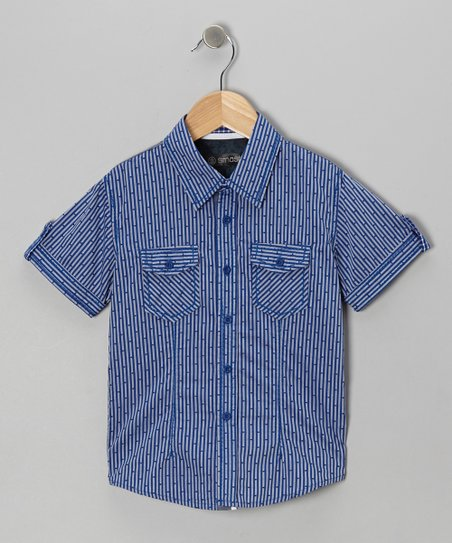 Blue Bamboo Button-Up - Boys