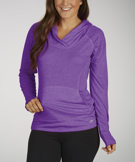 Heather Bright Tek Hooded Tee