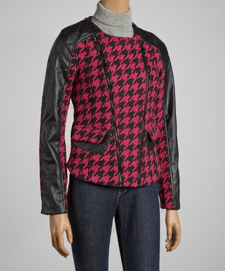 Fuschia Houndstooth Jacket