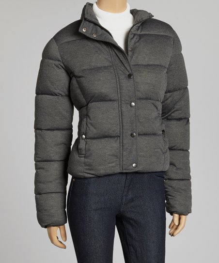 Black & Gray Puffer Jacket