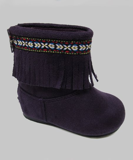 Purple Ice Fringe Boot