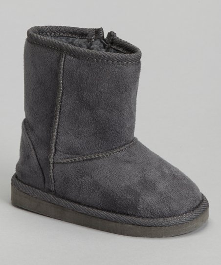 Gray Furry Boot - Kids