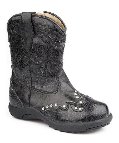 Black Bling Chunklet Cowboy Boot