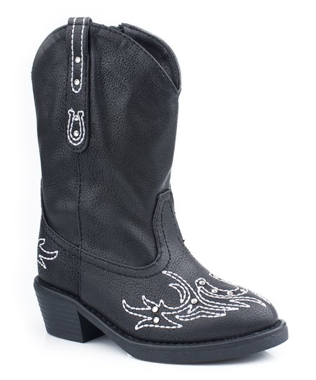 Black Western Stitch Cowboy Boot