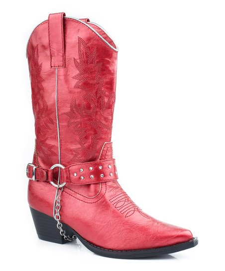 Red Harness Cowboy Boot