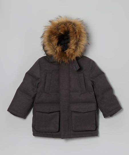Heather Gray Parka - Infant, Toddler & Boys