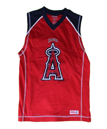 Red & Navy Los Angeles Angels of Anaheim Tank - Boys
