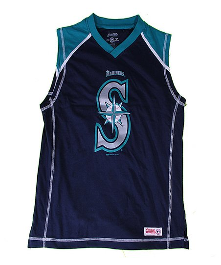 Navy & Teal Seattle Mariners Tank - Boys