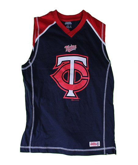 Navy & Red Minnesota Twins Tank - Boys