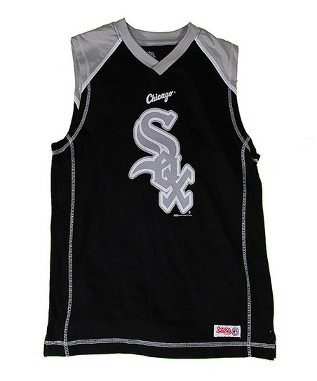 Black & Silver Chicago White Sox Tank - Boys