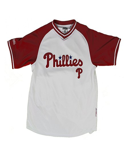 White & Red Philadelphia Phillies Jersey - Boys