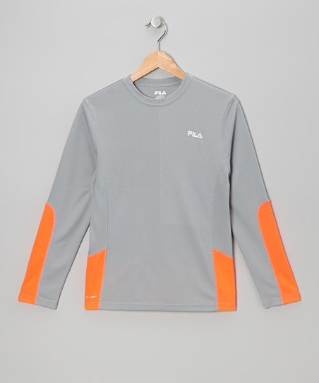 Gray Mesh Performance Top - Boys