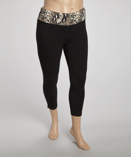 White Snake Capri Pants - Plus