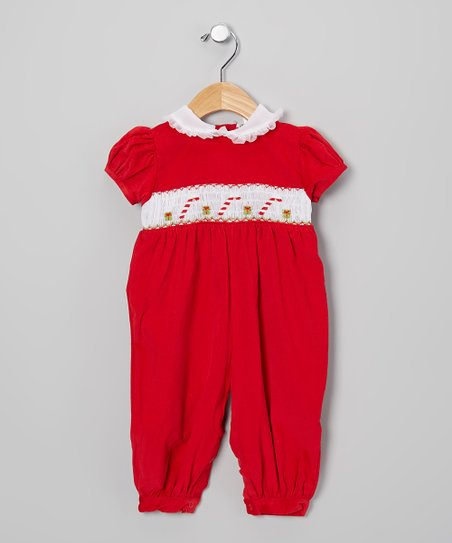 Red & White Candy Cane Romper - Infant & Toddler