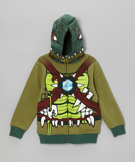 Green Chima Zip-Up Hoodie