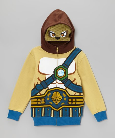 Tan Chima Zip-Up Hoodie