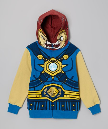 Blue Chima Zip-Up Hoodie