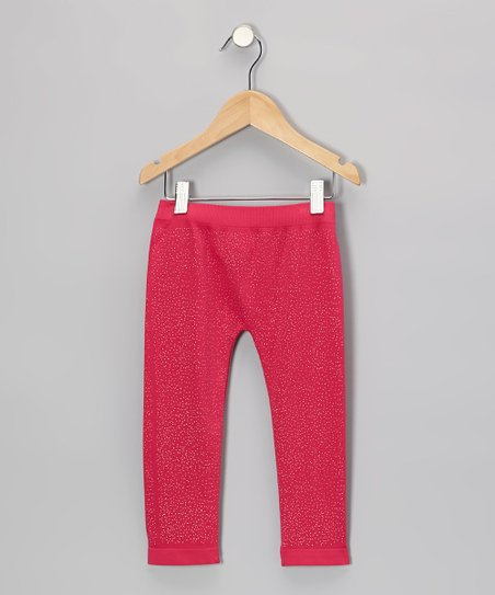 Fuchsia Sparkle Leggings