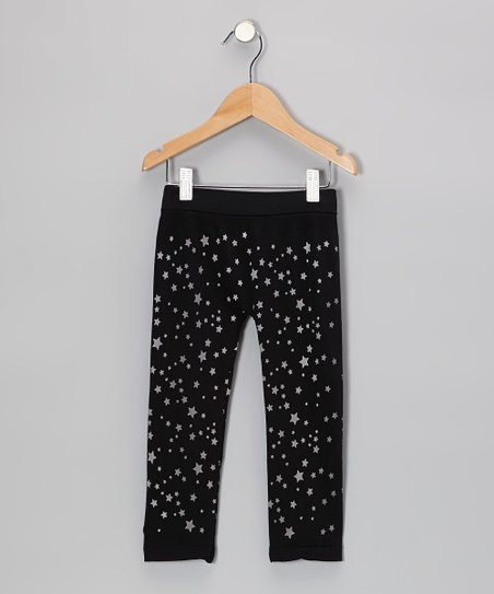 Black Star Leggings - Girls