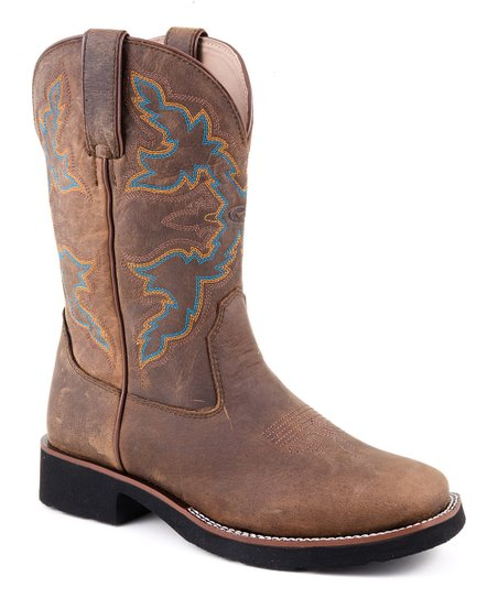 Brown Riderlite Square-Toe Cowboy Boot - Women