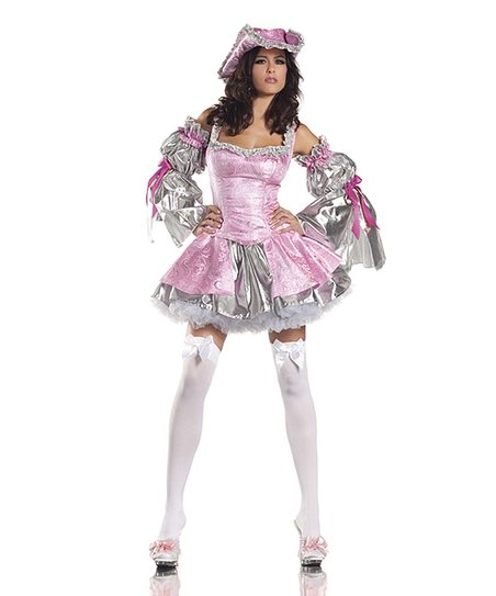 Pink & Silver Royal Antoinette Dress Set