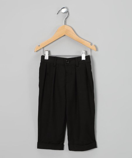 Black Pleated Pants - Infant