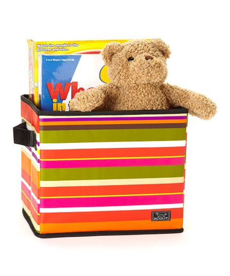 Duex Soliel Stripe Collapsible Storage Bin
