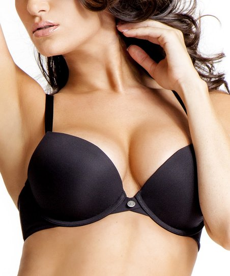 Black Body Veil Push-Up Bra - Women & Plus