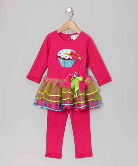 Fuchsia Cupcake Tunic & Leggings - Infant