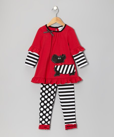 Red & Black Scottie Dog Tunic & Leggings - Infant