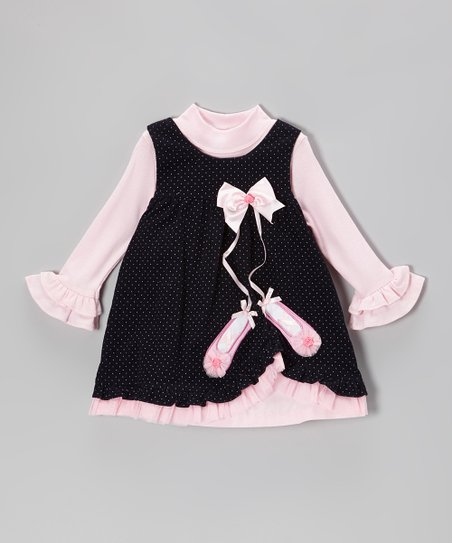 Pink Bodysuit & Navy Ballet Jumper - Infant, Toddler & Girls